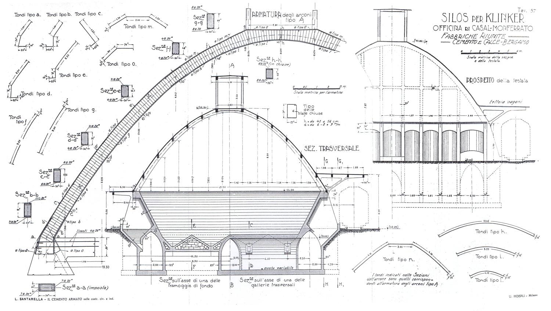 Paraboloide progetto silos parabolico di casale for Versare disegni e progetti