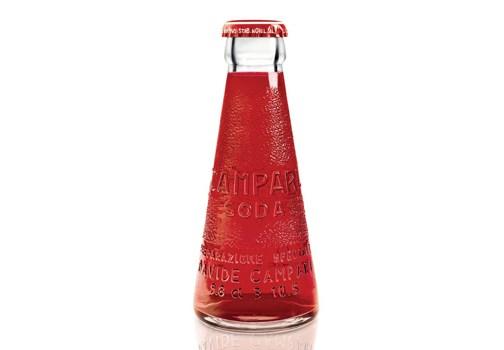 Bottiglietta Campari Soda disegnata da Fortunato Depero