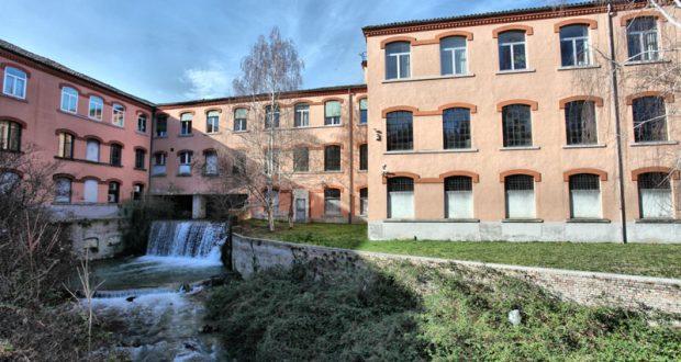 Retro del complesso storico Cartiere Miliani Fabriano © Fondazione G. Fedrigoni ISTOCARTA