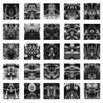 Rémy Markowitsch (Zurigo, Svizzera, 1957) Psychomotor, 2016 ©Rémy Markowitsch, Courtesy Galerie EIGEN + ART Leipzig/Berlin, Stampa su carta baritata 25 parti, 47 × 47 cm ciascuna
