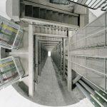 Edgar Martins (Évora, Portogallo, 1977) , Centrale elettrica Alto Rabagão: barra collettrice (vista dalla sala macchine), 2011, The Time Machine ©Edgar Martins, C-print, 120 × 150 cm