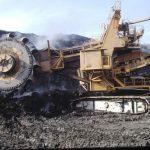 Enel miniera Santa Barbara escavatore