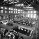 Sala turbine centrale Porto Genova anni '50 - Archivio Storico ENEL